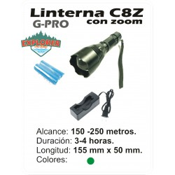 Linterna G-PRO C8 XPE Verde