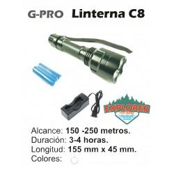 Linterna G-PRO C8 Q5 Blanca