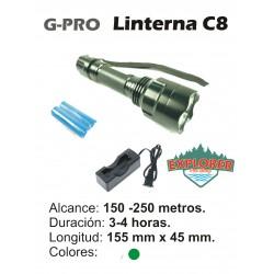 Linterna G-PRO C8 Verde