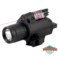 Linterna con laser tactico