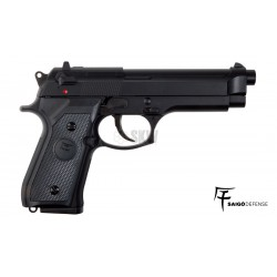 Pistola Saigo Defense Modelo 92 Polimero Green Gas