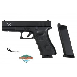 Pistola Saigo Defense Modelo 17 Airsoft  Co2/Green Gas