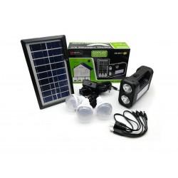 Kit De Iluminación Y Entretenimiento Con Panel Solar