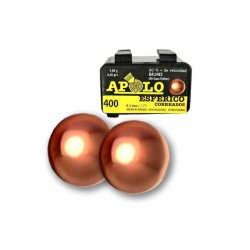 Balines Apolo Esfericos Cobreados 4.5mm x 400un