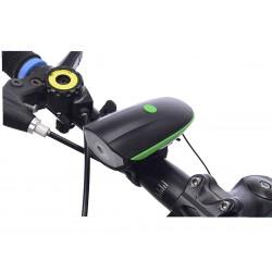 Luz y bocina recargable para bicicleta