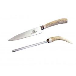 Cuchillo + Afilador Venado 631141 H14cm