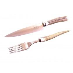 Cuchillo + Tenedor Venado 531141 H14cm