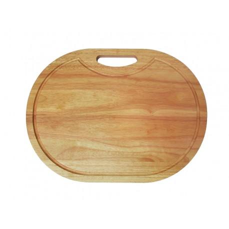 Tabla Oval De Bambú