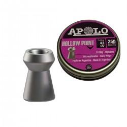 Chumbos Apolo Hollow Point Caza 4.5mm X 250un