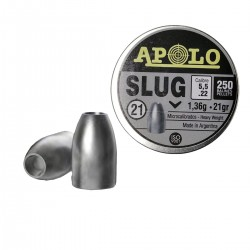 Chumbos Apolo Slug Punta Hueca Hollow Point 5.5mm 21gr Caza